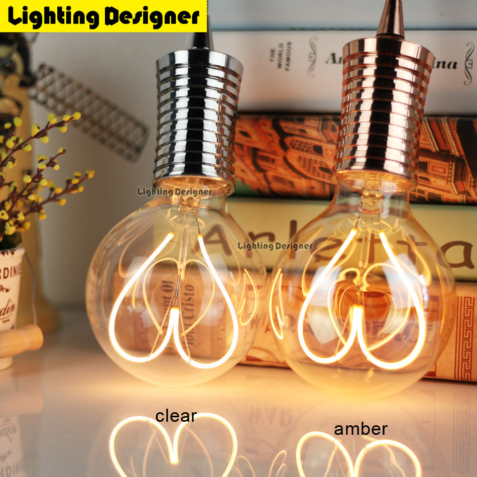 G95 Edison bulb LED E27 220V 4W bubble ball bulb Vintage Filament Retro Energy saving lamp light fixture Lighting Art chandelier 5pcs e27 led bulb 2w 4w 6w vintage cold white warm white edison lamp g45 led filament decorative bulb ac 220v 240v