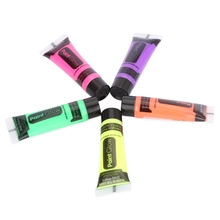 5pcs Brighten Highlighters Professional Flash Fluorescent Body Paint Grow Face Pigment Luminous Acrylic Art for Party Makeup