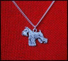 Ожерелье «собака шнауцера» ожерелье ручной работы рельефная