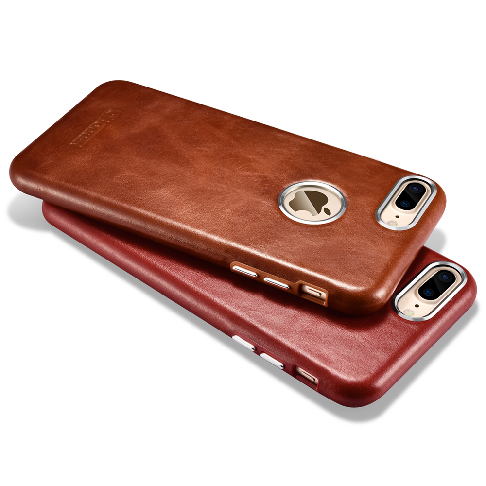 imágenes para Lujo Ultra Thin Caja Del Cuero Genuino Para el iphone de Apple 7/7 además De La Vendimia Duro Cajas Del Teléfono 360 Teléfono de Nuevo La Cubierta de Protección Completa