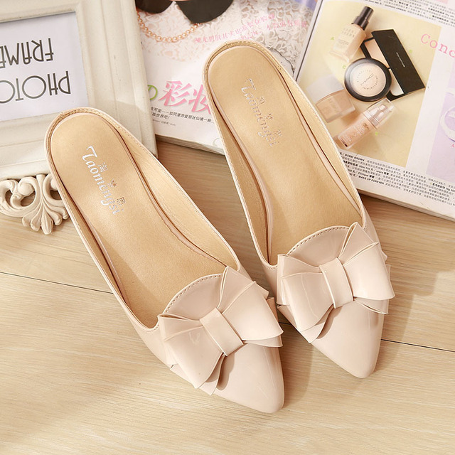 8a7ef2f34097 2015 new trendy summer style ladies flat with flip flops half slippers  sandals patent leather fashion