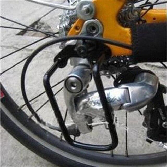 Nuovo di Vendita caldo di Trasporto Libero Coperchio di Protezione Ciclismo Bike Ferro Acciaio Della Bicicletta Deragliatore Posteriore Catena Guard Protector Gear Nero