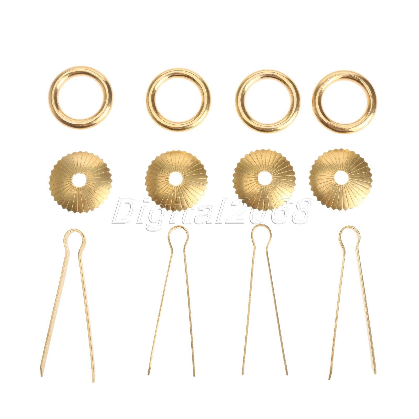 ᐊ2016 de alta calidad 4 100% latón cajón manejar anillo tirar ...