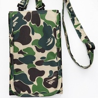 Passport bag multifunction certificate storage bag Fashion Unisex camouflage shoulder coin purse card bags small and square bag