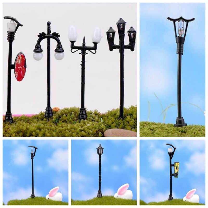 4 sztuk/zestaw lampy uliczne LED światła z w dół ołowiu Moss Microlandscape piaskownica stołowa Model budynku DIY dekoracji ozdoby