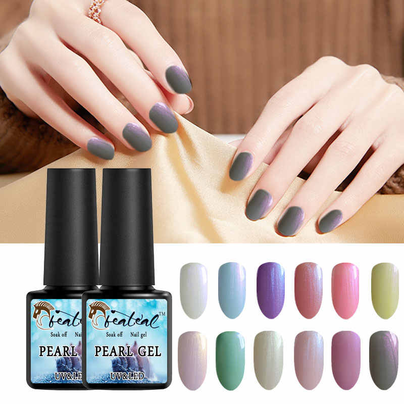 Beateal Hybrid Varnish Pearl Nail Polish Nail Art Acryl Gel