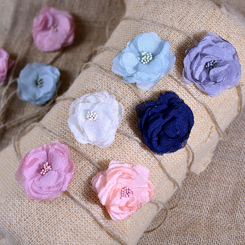 Newborn Photography Props Baby Girl Headband With Flower Hemp Rope Baby Headwear Fashion Photoshoot Accessories For Studio