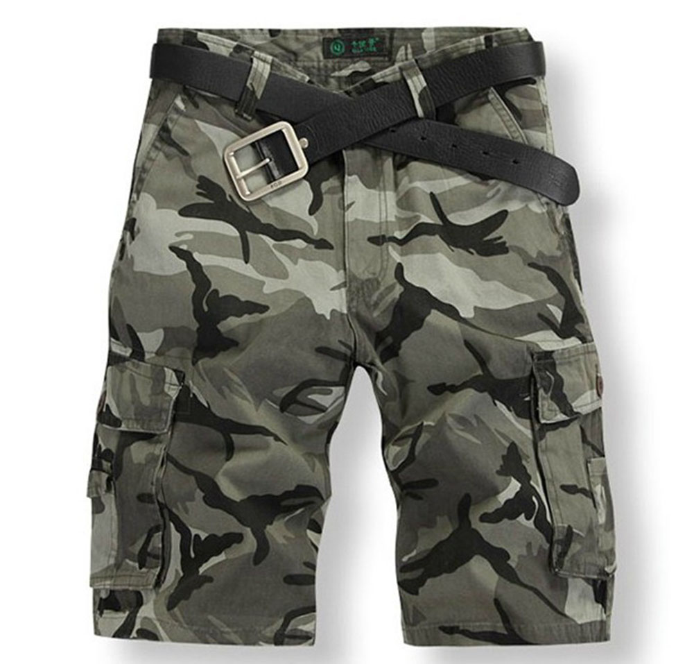 Plus Size Summer Men Camouflage Shorts Overalls Cotton Shorts Men Trousers Disruptive Pattern Casual Shorts Half Mens Shorts LB