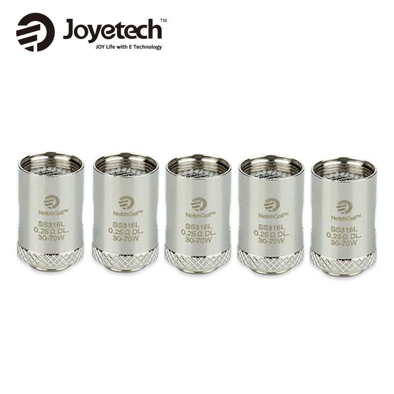 5pieces Original Joyetech Cubis NotchCoil DL Head Resistance 0.25ohm SS316L Atomizer Coil Heads for Cuboid Mini / Cubis