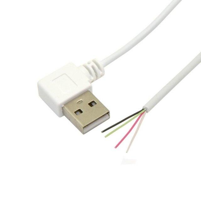 100 teile/lose 90 Grad Links Abgewinkelt USB 2.0 Typ A Stecker zu 4 ...