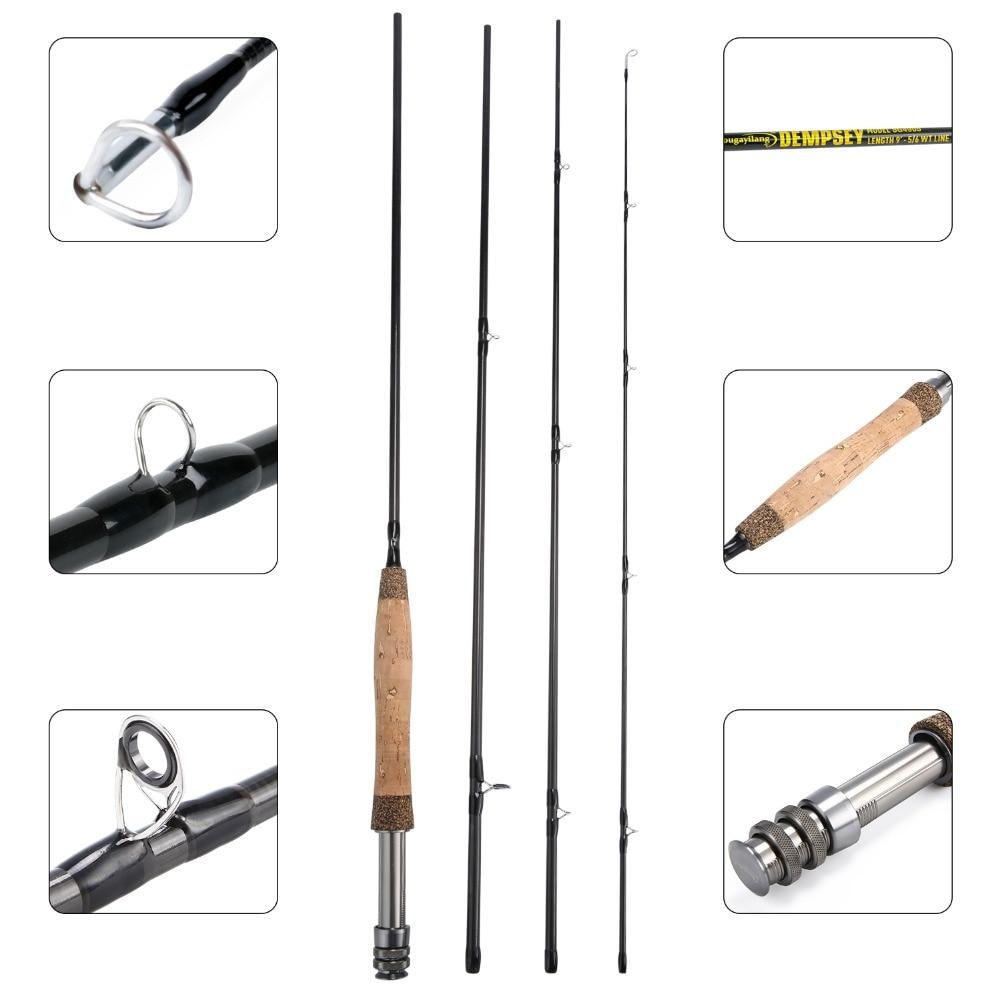 Image 4 - Sougayilang Fly Rod 5/6 7/8FT 4 Sections Fly Fishing Rod Ring Carbon Fiber Rod Medium Fast Action Freshwater Fishing PoleFishing Rods   -
