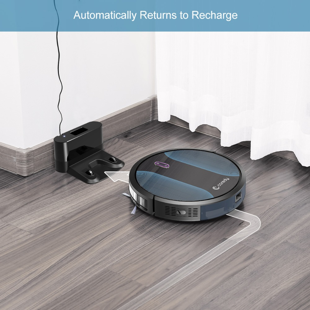 Coredy R500+ Smart Clean Robot Vacuum Cleaner Dust Water Tank Mop Carpet Hair Cleaners Sweeping aspirador Floor Mopping Robot - 6