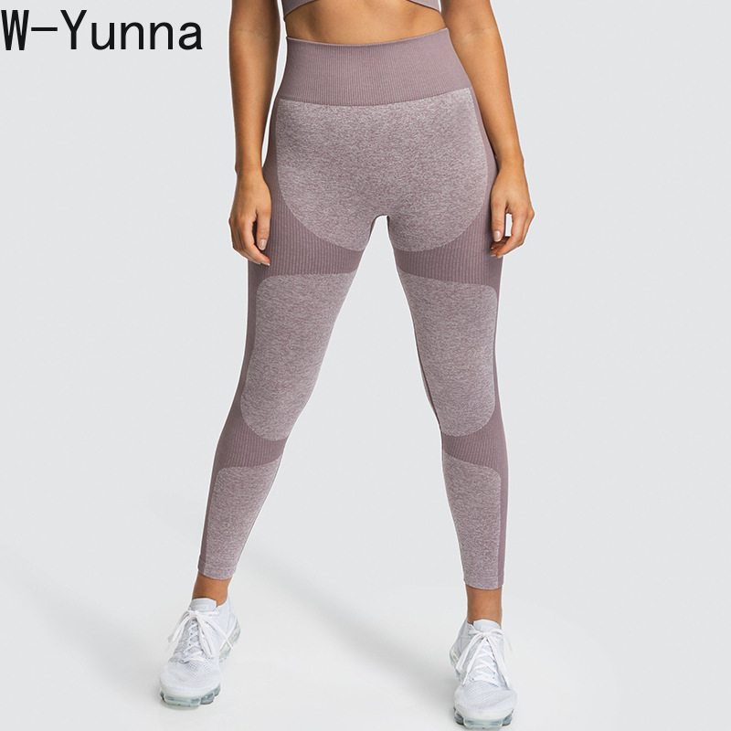 W-Yunna New Listing Fitness Legggings Highly Stretch High Waist Sportsing Fitness Pants Sexy Push Up Peach Hip Seamless   Leggings