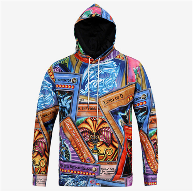 Hot Card Game Yu-gi-oh Exodia 3d Print Hoodies Front Pocket Hoody Drawstring Sweatshirt Pullover Unisex Outerwear Cotton Quality Curing Cough And Facilitating Expectoration And Relieving Hoarseness Hoodies & Sweatshirts