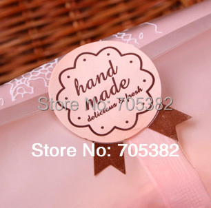 100pcs/lot Size:2.6cm Hand Made Paper stickers for home made cakes muffins cookies chocolates seal sticker (ss-6840)