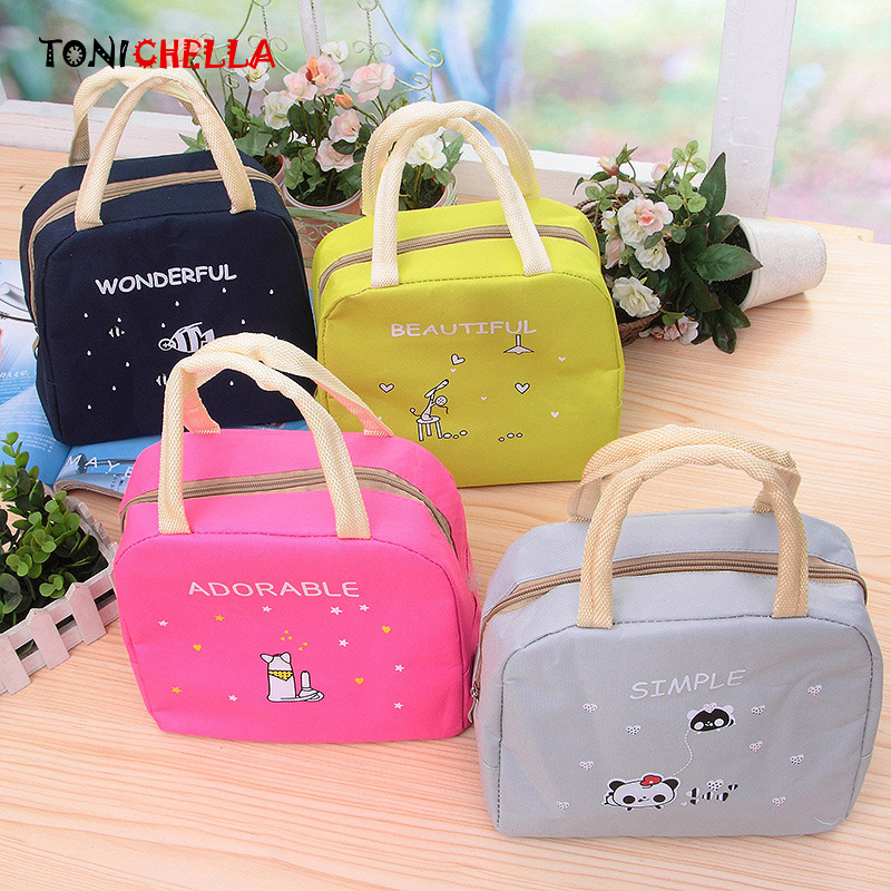 Portable Insulated Lunch Bag Baby Feeding Milk Bottles Keep Warm Cute Cartoon Travel Picnic Waterproof Thermal Handbag CL5527