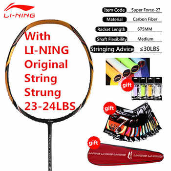 Genuine 1PCS Li-Ning Professional Badminton Rackets Full Carbon High Quailty Li Ning Racquets with String and Overgrips L999OLB - DISCOUNT ITEM  15% OFF Sports & Entertainment