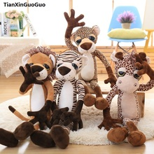 new arrival large 80cm cute jungle animal, lion,giraffe,tiger, leopard soft plush toy throw pillow birthday gift h0824