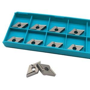 Image 2 - 10 pces dnmg150404 r vf ct3000 ferramentas de torneamento externo cermet grau carboneto inserção torno ferramenta tokarnyy torneamento inserção