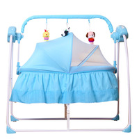 Baby Electric Cradle Bed Newborn Sleeping Rocking Bed Automatic Intelligent Multiple Portable Baby Crib Foldable with Netting