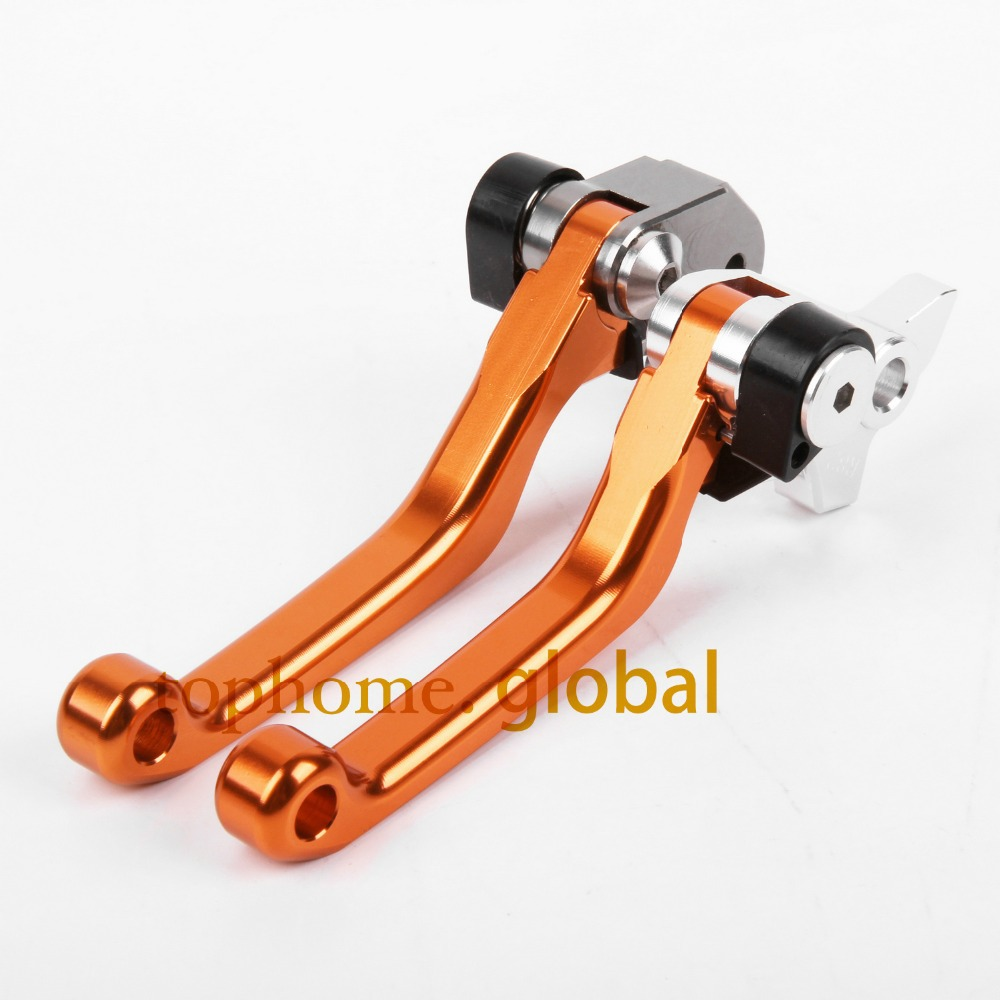 Top Quality Orange Color CNC Pivot Dritbike Brake Clutch Levers For KTM 65XC 2004-2011 2005 2006 2007 2008 2009 2010 pitbikes good quality titanium motorcycle accessories increased torque of cnc pivot brake clutch levers for ktm 450 smr 2007 2008 2009