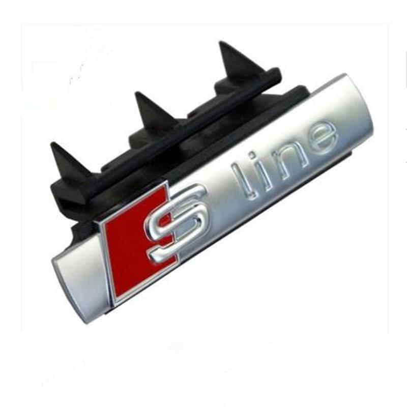 10pcs S Line Sline Front Grille Emblem Badge Chromed ABS -Front Grille Mount for Audi A1 A3 A4 A5 A6 A7 Q3 Q5 Q7 TT quattro front grille emblem badge chromed plastic abs front grille mount for audi a4 a4l a5 a6l s3 s6
