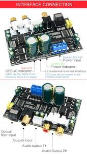 Image 4 - CS8416 CS4398 Dijital Arayüz DAC dekoder kurulu 24bit 192 K SPDIF koaksiyel Optik fiber AUX Amplifikatör TV