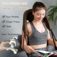 Electric shawl massager of neck kneading professional 3d cervical body shiatsu finger massage machines for back pain equipment