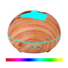 GRTCO 300ml Essential Oil Aroma Diffuser Electric Ultrasonic Air Humidifier with Wood Grain LED Lights for Home Office