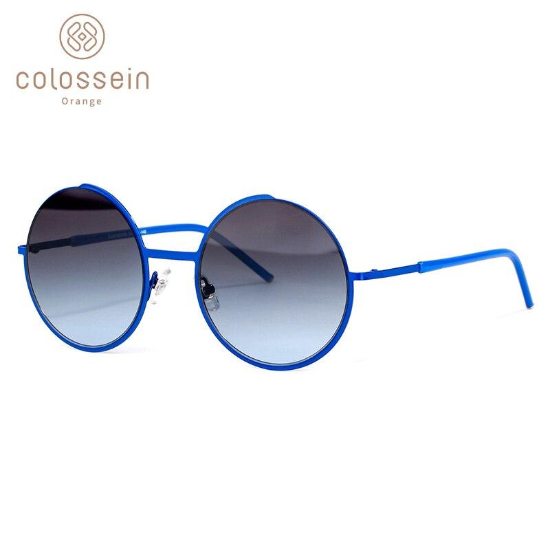 COLOSSEIN Orange Label Fashion Sunglasses,Metal Frame with Polarized Lens