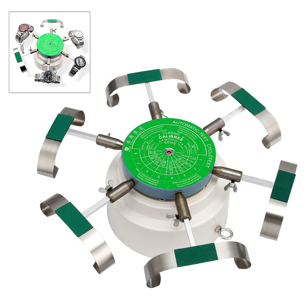 110v /240v Automic-Test Cyclotest Watch Tester Watch Test Machine watch winders for six watches at one time US/EU Choose цена