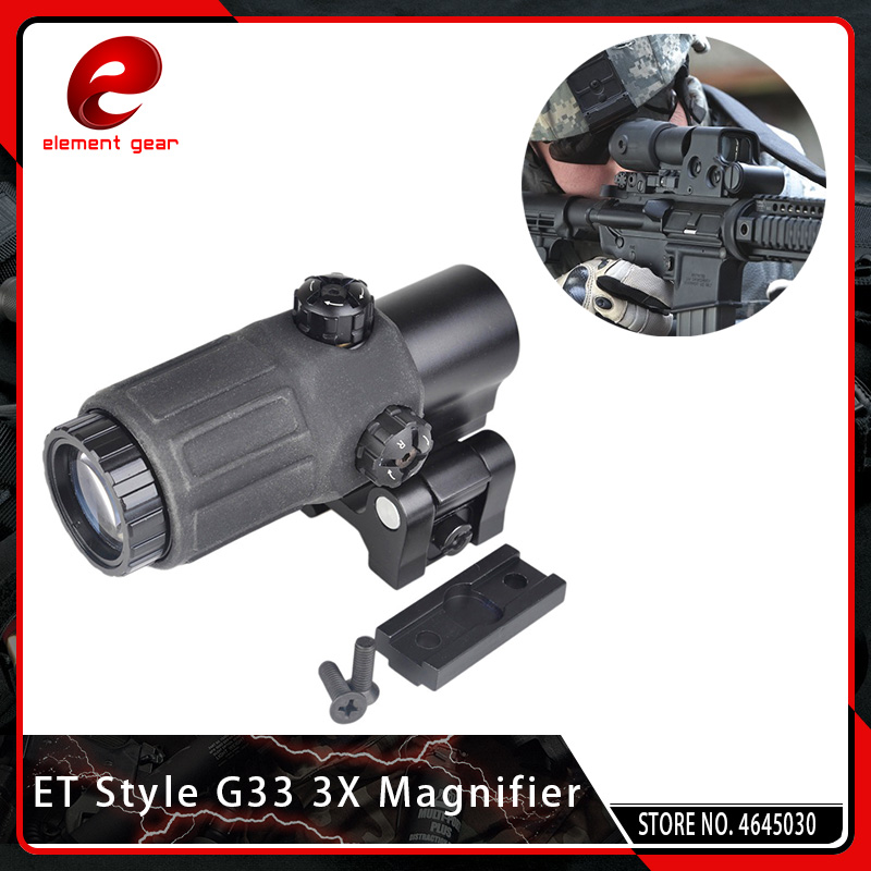 Element Tactical Hunting Rifle Holographic Red Dot Optics Spotting Scopes 3x Magnifier Rifle Airsoft Gun with STS Mount EG5348