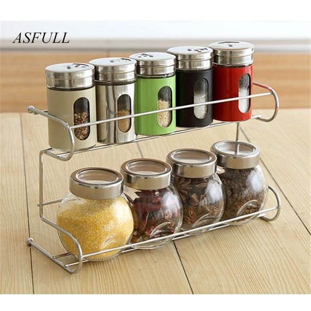 Kitchen Use 10 Piece Set Seasoning Box Condiment Food Container Organizer Jar For