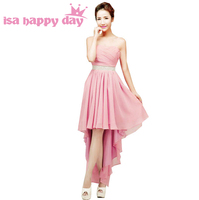 Plus Size Women High Low Chiffon Coctail Bandage Blush Dress Girls Pageant Dresses 14 Size For