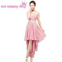 Plus size donne di alta bassa chiffon coctail bandage blush dress ragazze abiti pageant 14 dimensioni per le donne scollo a cuore H3115