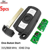 5PCS/LOT, Smart Remote Key for BMW 1 3 5 Series X5 X6 2006-2011 315MHZ/868MHZ ID46 with Comfort Access System One-Button Start