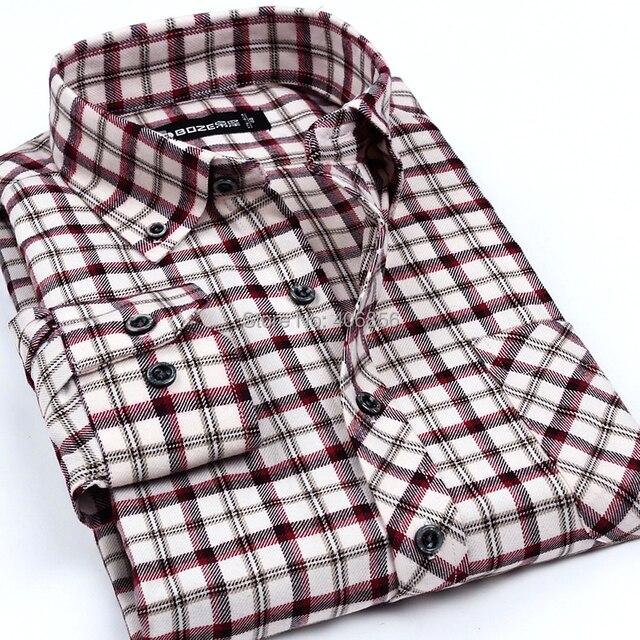 Envío gratis Brisbane roja a cuadros pequeños hombres camisa de ...