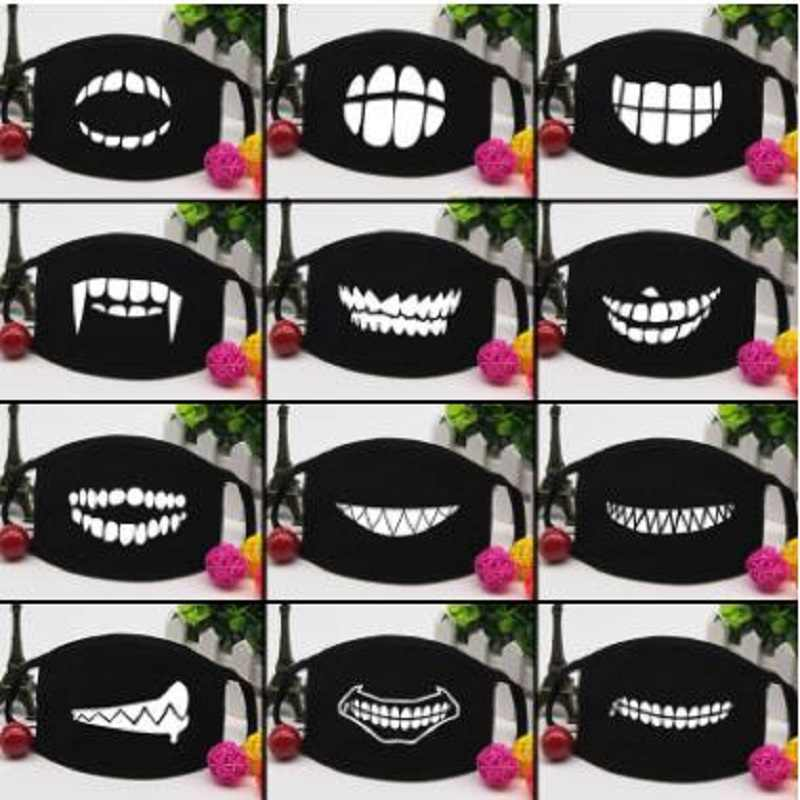 Personality teeth masks cute couple cotton dust mask