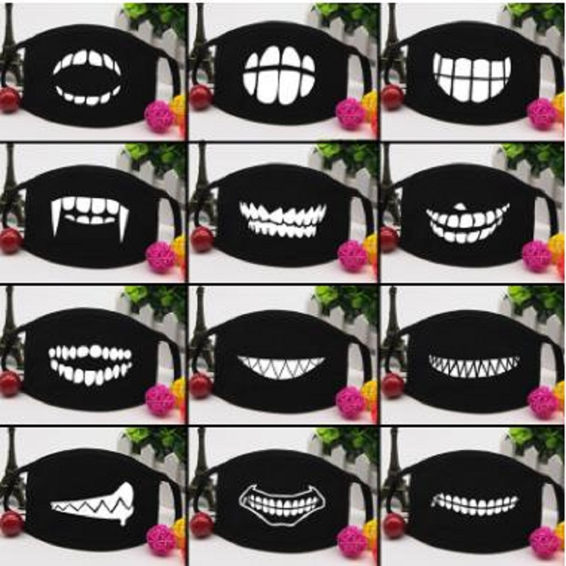 Personality Teeth Masks Cute Couple Cotton  Mask
