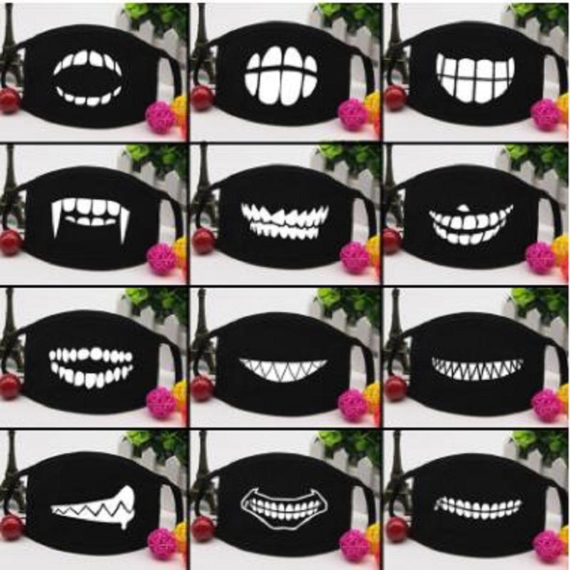 Personality Teeth Masks Cute Couple Cotton  Mask