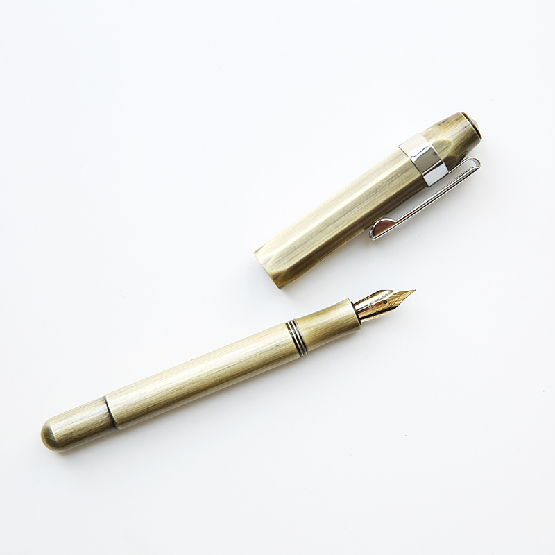 Image 3 - Ink Pen Brass TN Vintage Handmade Small Artwork Adult Calligraphy Pen Mini Portable Fountain Pen 0.5mm-in Fountain Pens from Office & School Supplies
