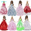 Random 5x Fashion Dresses Wedding Party Evening Gown Mixed Style Clothes For Barbie FR Kurhn Doll Pretend Play Accessories Gift