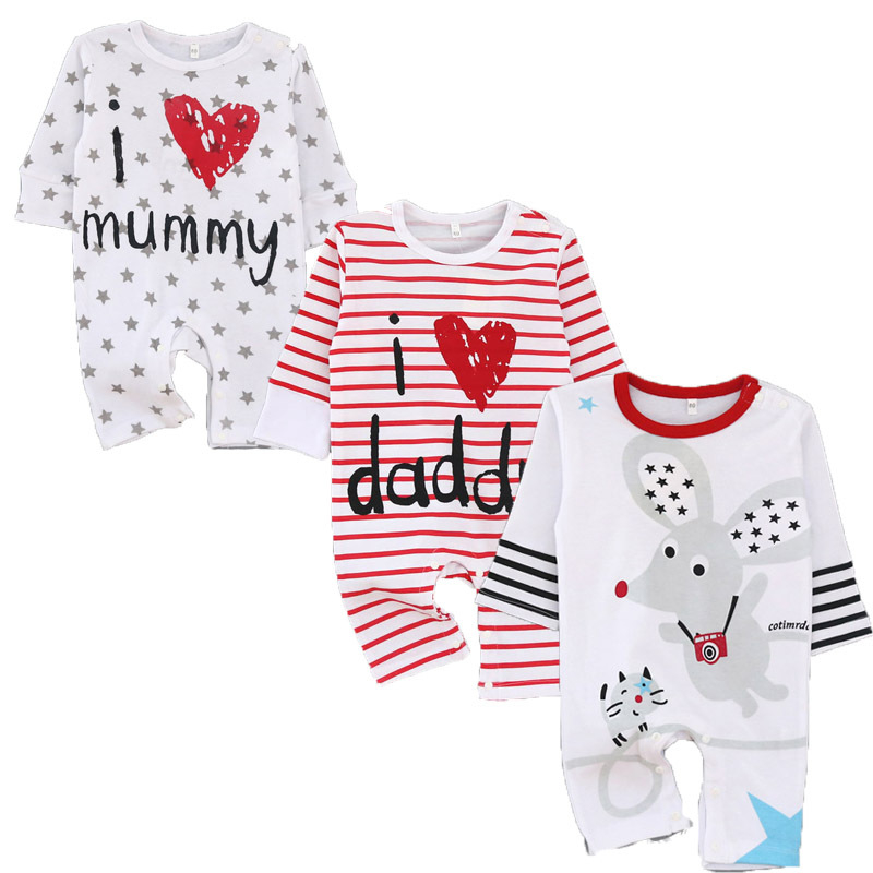 Autumn Baby Rompers Unisex Baby Girls Clothing Sets Spring Newborn Baby Clothes Roupa Infant Jumpsuits Cotton Baby Boy Clothes baby clothing spring autumn unisex newborn baby clothes100% cotton cartoon rompers long sleeve baby product baby clothing infant
