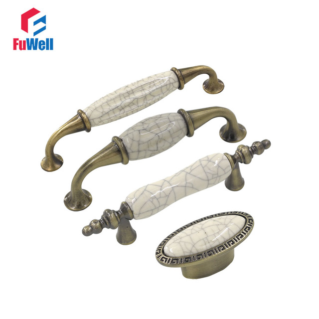 4 pz Mobili di Ceramica maniglie Manopole Maniglie Manopole In ...