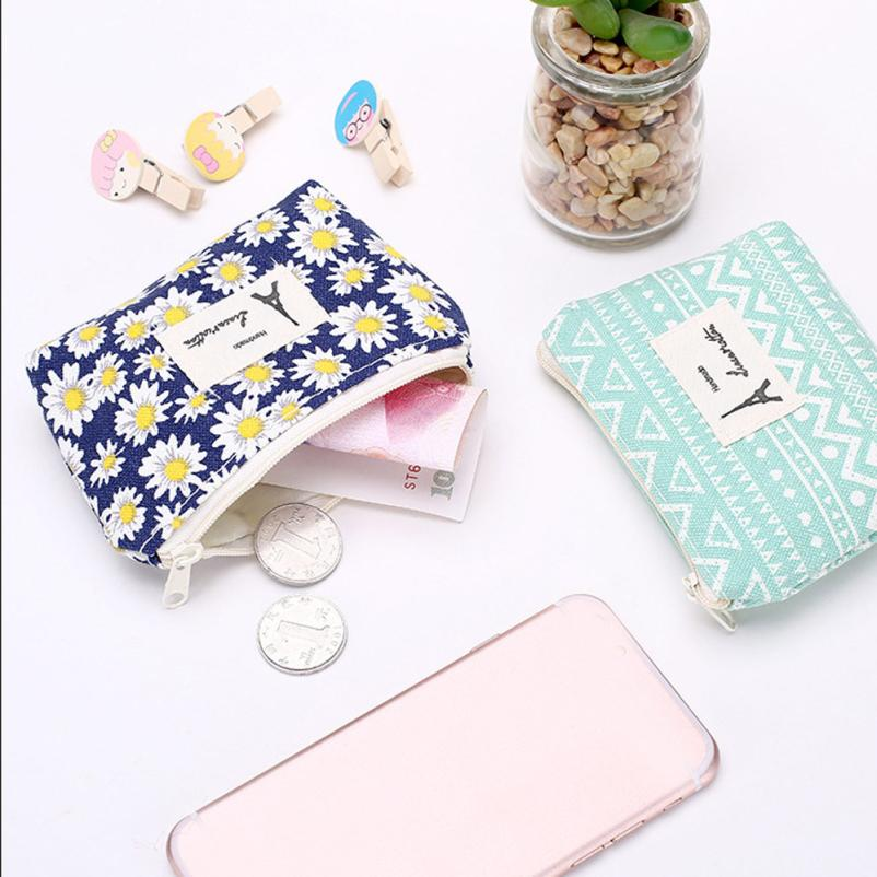 Coin Purse Women Fresh Floral and Tassel Coin Purse Wallet Bag Change Pouch Key Holder Monederos Mujer Monedas gyd 2016 new silicone coin purse monederos pouch case change animal purse patterns o bag rectangle silicon bag gyd0006