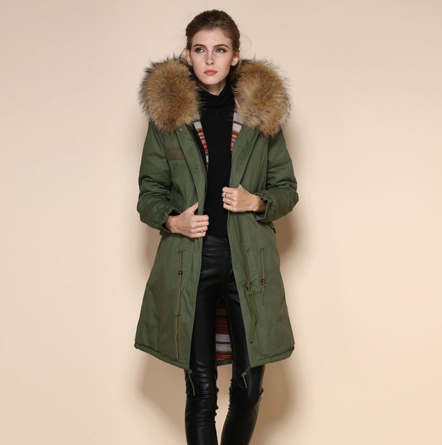 614fd1a04 Military Style Winter Women and Men Plus Size Casual Cotton Parka coats  With Raccon Collar Fashion Top Quality Fur Jackets