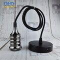 Glossy black Industrial Retro Edison Bulb Lamp pendant Vintage Loft Antique fabric wire DIY E27 Art vintage Ceiling Lamp Fixture