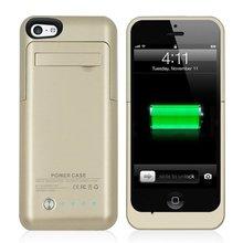 Золотой Цвет Для iPhone 5 Зарядное Устройство Случае 2200 мАч Аккумуляторная Мощность Случаи с выдвижной Просмотр Стенд для iphone 5/5c/5s/se
