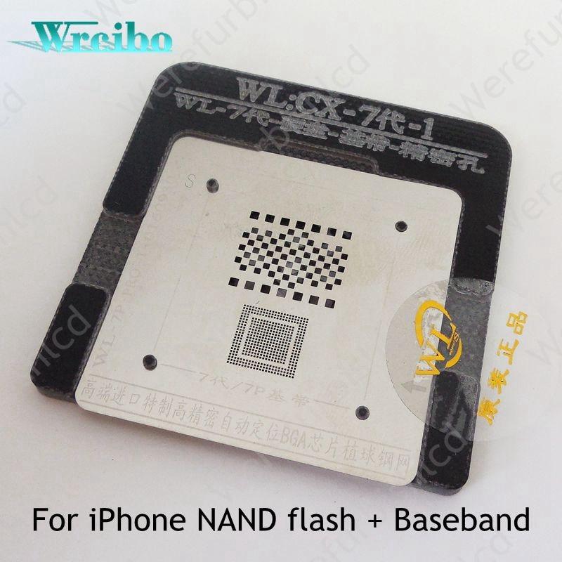 Wrcibo Ultra precise BGA repairing tool For iphone 7 7G baseband nand flash reball kit tool BGA reballing endurable stencil