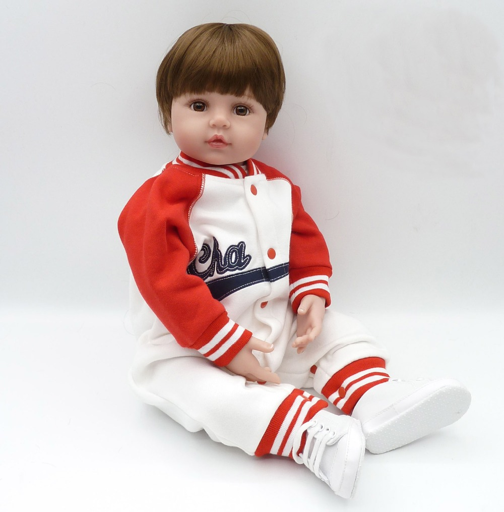 Soft Floppy Body Lifelike Poseable Chinese Baby Princess Boy Doll, 24 Inch Cloth Body Weighted Toddler Doll with Matching Outfit